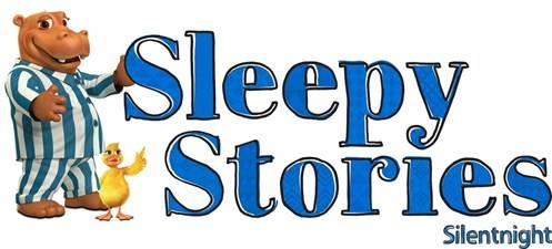 Sleepy Stories competition logo, featuring Hippo and Duck